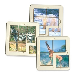 6 Puzzles Animaux sauvages