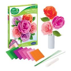 Fleurs en crépon Roses