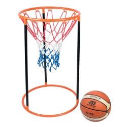 Panier de basket au sol
