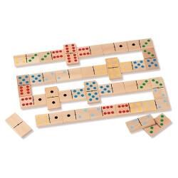 Dominos bois en couleurs