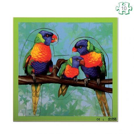 Puzzle Les perroquets