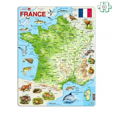 Puzzle avec contour Carte de France