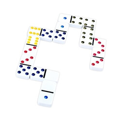 Dominos traditionnels en couleur
