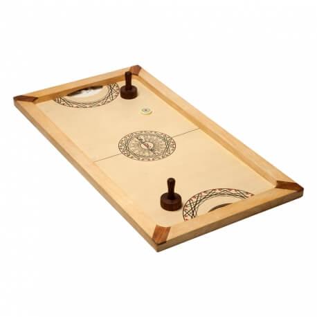 Shuffle-puck - Air hockey en bois - Jeux de palets sur table à glisser