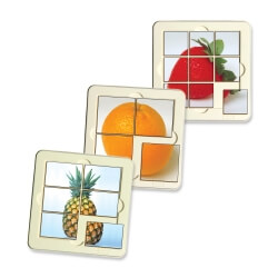 6 Puzzles Fruits
