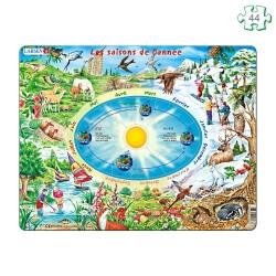 Puzzle Les saisons de l'année à contour - Atelier puzzle seniors
