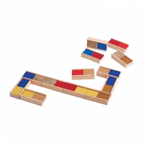 Dominos tactiles texture et matière - jeu pour travailler le sens du toucher