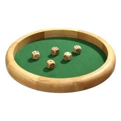 Grande piste de dés en bois - pour jouer au Yams et 421 - jeux de dés