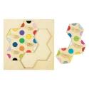 Puzzle à boutons Hexagone