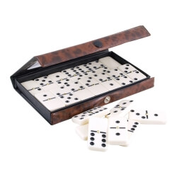Jeu de dominos traditionnels - Mallette Dominos Double 6 classique