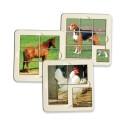 6 Puzzles Animaux de la ferme
