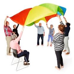 Jeux de Parachute - Activités de groupe et jeux collectifs