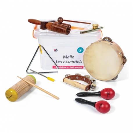 Malle 7 instruments de musique - Les essentiels pour atelier musical