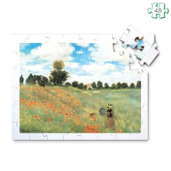 Puzzle grandes pièces en bois xxl pour séniors - Les coquelicots de Monet