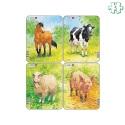 Lot de 4 puzzles animaux À la ferme
