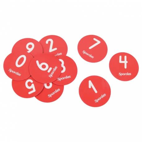 Marquages au sol numérotés ronds – Parcours psychomoteur ehpad