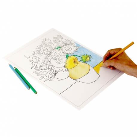 Coloriage pour séniors et personnes âgées - grand cahier de 20 dessins