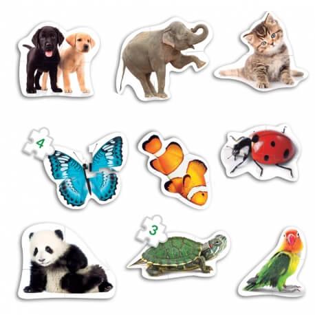 Très grands puzzles animaux