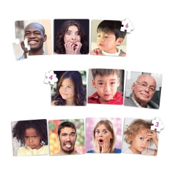 Puzzles émotions - Reconnaître les expressions du visage - Grande taille