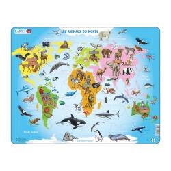 Puzzle avec contour Les animaux du monde