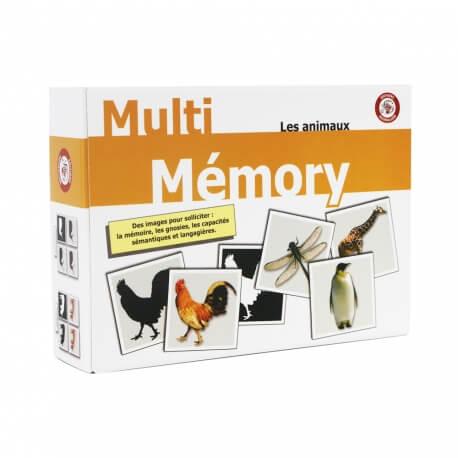 Activités Alzheimer – Jeux de mémory animaux grande taille – Multi Mémory