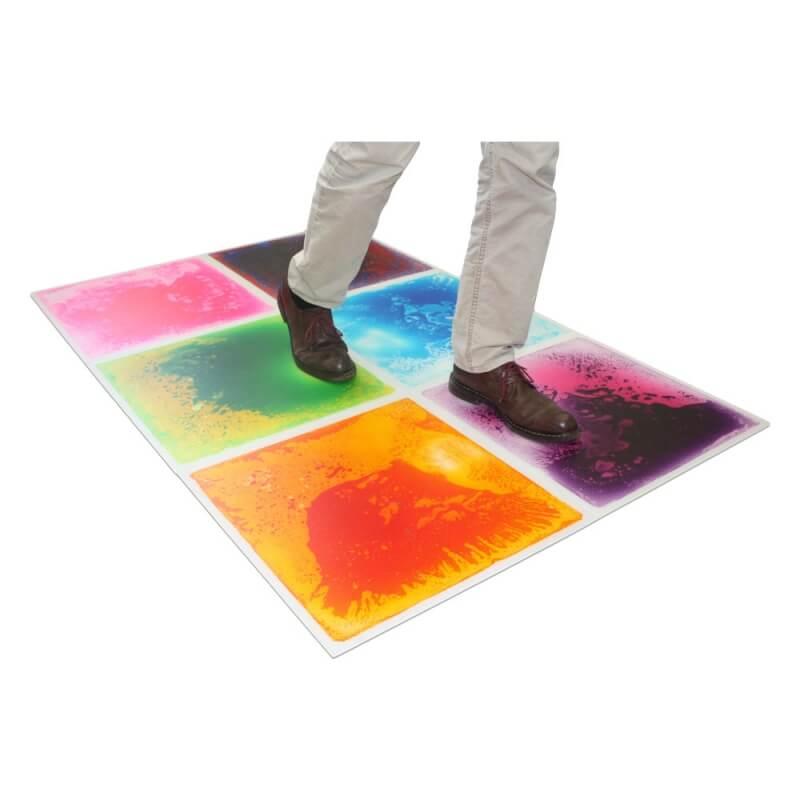 dalle multicolor à poser au sol