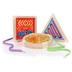 Jeux de laçage - Atelier fils à dessiner canevas géométriques