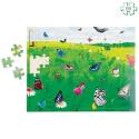 Puzzle paysage Le champ des papillons