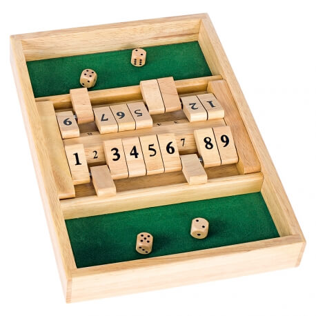 Shut the box double - Jeux de dés - Fermez la boîte - jeu classique