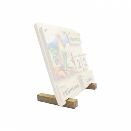 Supports pour calendrier en bois