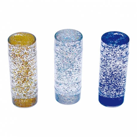 Tubes à paillettes – lot de 3