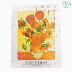 Puzzle grandes pièces en bois - Tournesols Van Gogh - personnes âgées