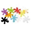 Taches de couleur translucides