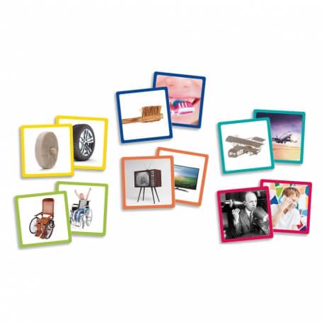 Maxi-mémory Iventions - Jeu de memory grande taille pour personnes âgées