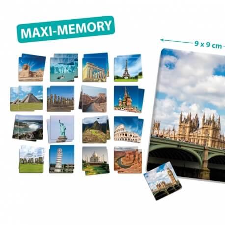 Maxi-mémory monuments du monde - jeu de memory grande taille
