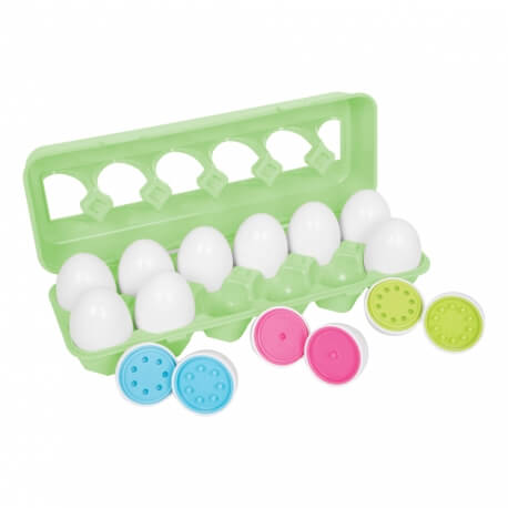 Les œufs à associer - pour travailler la motricité fine et la mémoire