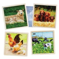 4 Puzzles à cadre Animaux de la ferme - puzzle pour personnes désorientées
