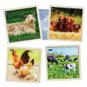 4 Puzzles à cadre Animaux de la ferme