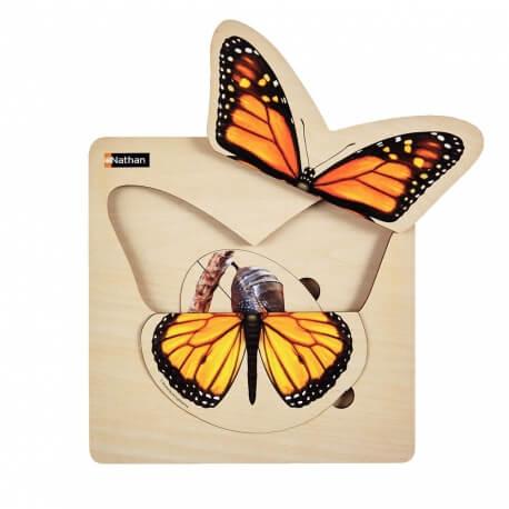 Puzzle évolutif pour séniors désorientés - Puzzle papillon cycle naturel