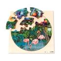 Puzzle rond - la forêt tropicale