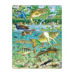 Puzzle Animaux de la rivière avec contour