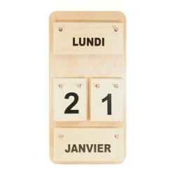 Petit calendrier en bois
