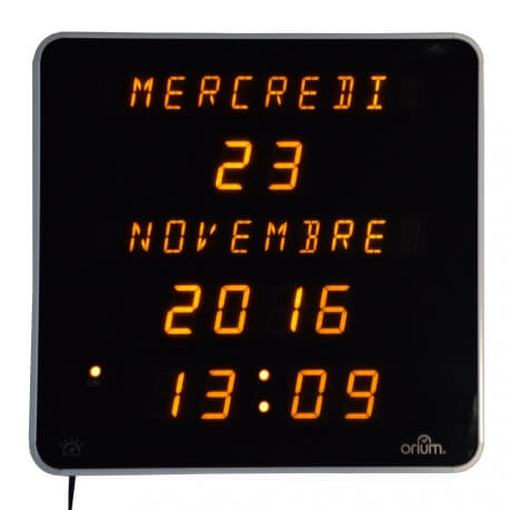 Horloge éphéméride - pour personnes âgées - se repérer dans le temps