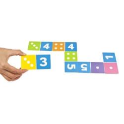 Dominos des nombres - jouer au dominos avec les chiffres et les points