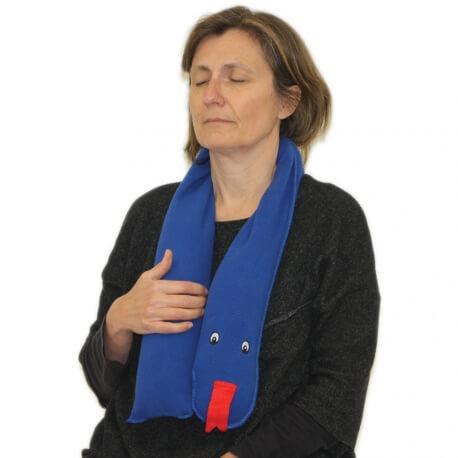 Coussin nuque lesté - tour de cou sensoriel lourd - produit bien-être