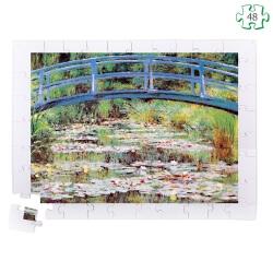 Puzzle pièces très grande taille en bois - Le pont japonais de Monet