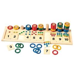 Jeu en bois pour compter et calculer - exercices cognitifs seniors