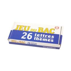 Jeu du Bac - Le petit baccalauréat - jeu de société 26 lettres 26 thèmes