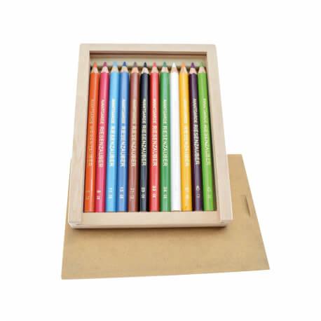 Grands crayons de couleur ergonomique pour seniors - Boîte de 12 couleurs