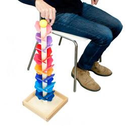 Grand arbre à billes musical coloré - activités sensorielles seniors